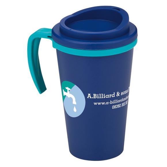 blue americano grande thermal mug