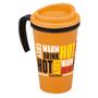 orange and black grande thermal mug