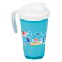 blue and white grande thermal mug