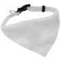 white dog collar bandana