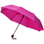 "21"" foldable auto open umbrella in pink"