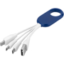 Troup 4-in-1 Type-C Cable in blue and white with 4 connectors