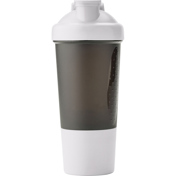 white and black 500ml protein shaker unbranded