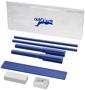 8 piece pencil case in blue