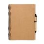 Bloquero Plus Notebook in brown with black elastic pen loop and black and brown pen