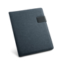 Navy A4 imitation leather notepad organiser with magnetic lock