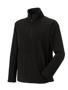 1/4 zip outdoor fleece in black with cadet collar and pockets