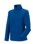 1/4 zip outdoor fleece in blue with cadet collar and pockets