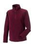 1/4 zip outdoor fleece in burgundy with cadet collar and pockets