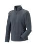 1/4 zip outdoor fleece in grey with cadet collar and pockets