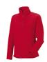 1/4 zip outdoor fleece in red with cadet collar and pockets