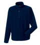 1/4 zip microfleece in navy with cadet collar and zip protector