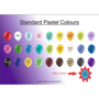 pastel latex balloon colour chart
