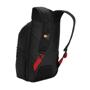 """Felton 16"""" Laptop Backpack in black with red details back of rucksack"""