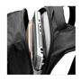 """Felton 16"""" Laptop Backpack in black showing laptop inside"""