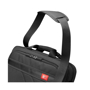 black laptop case with carry handle and shoulder strap
