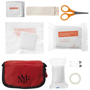 contents of 19 piece first aid kit