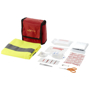 contents of beth 19 piece first aid kit with safety vest