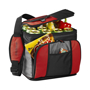 Large Cooler bag in black and red with grey trim