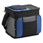 Large cooler bag in blue and black with grey trim