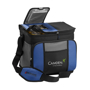 Grey, Blue and Black large cooler bag with multiple compartments