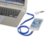 Longy 2-in-1 Charging Cable with Clip in blue connected to laptop