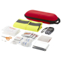contents of the 46 piece first aid kit with safety vest
