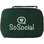 6 Ball Jeu De Boules Set green case with 1 colour print logo