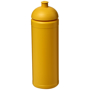 Solid yellow 750ml water sports bottle with matching lid