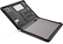 open view of the black a4 wireless charging folder