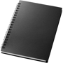 A6 wiro notepad with black plastic cover
