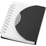 A7 wiro notebook with black fold-over cover