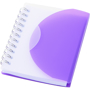 A7 wiro notebook with purple fold-over cover