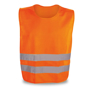 fluorescent orange reflective vest