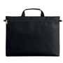 Document carry case in black with front zip