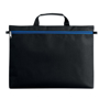 Carry case for documents with blue front zip