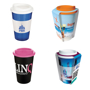 Reusable travel mug in a range of mix and match colours