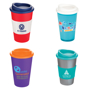 Promotional tumbler reusable travel mug in a range of colour combinations