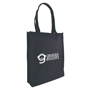 Large shopper bag in black with side gusset