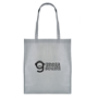 Shopping tote bag in grey personalised with a company logo