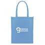 Branded long handled shopper bag in blue