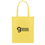 Yellow shopper tote with matching yellow long handles