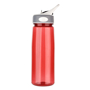 Aqua Water Bottle with grey and white lid and transparent red body