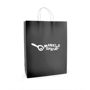 Ardville Large Paper Bag in black with white rope handles and 1 colour print logo