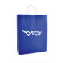 Ardville Large Paper Bag in blue with white rope handles and 1 colour print logo