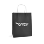 Ardville Medium Paper Bag in black with white rope handles and 1 colour print logo