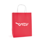 Ardville Medium Paper Bag in red with white rope handles and 1 colour print logo
