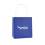 Ardville Small Paper Bag in blue with white rope handle and 1 colour print logo