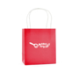 Ardville Small Paper Bag in red with white rope handle and 1 colour print logo