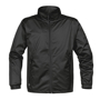 Axis Softshell Jacket in black with black full zip and 2 zipped pockets